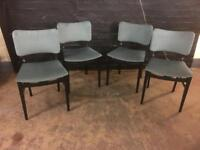 Four beautiful mid century 1950s dining Chairs in very clean condition