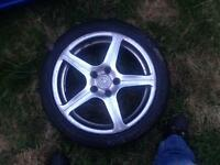 """17"""" alloy with tyre"""