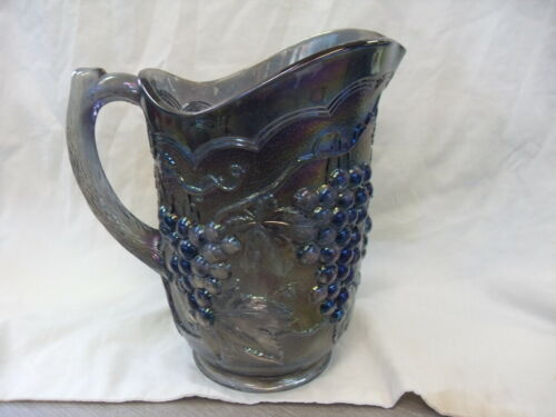 Vintage Imperial Grape Carnival Glass Iridescent Smoke Pitcher Exc Cond #3442