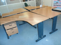 OFFICE CORNER TABLE SIX AVAILIBLE OFFICE CLOSING DOWN TRAFFORD PARK M17 1SG