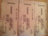 3 platinum Juatin Bieber tickets Glasgow