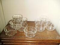 12 SMALL GLASS DESSERT BOWLS