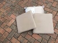 4no Waterproof garden chair padded cushions