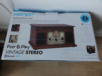 Intempo Record player Speed 33 45 78 Radio Cd player AUX Bluetooth New 4in1