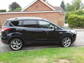 FORD KUGA 2015 MANUAL 2.0 L. tdci DIESEL BLACK EXCELLENT CONDITION