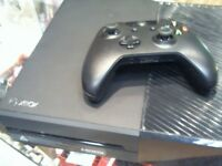 XBOX ONE CONSOLE WITH LEADS AND 1 CONTROLLER, 6 MONTHS WARRANTY