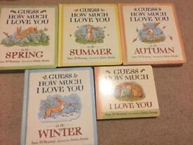 Guess how much I love you books x 5