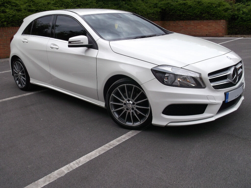 l k 63 mercedes benz a class white a180 cdi diesel amg pack good spec 19 alloys 20 tax 82 mpg. Black Bedroom Furniture Sets. Home Design Ideas