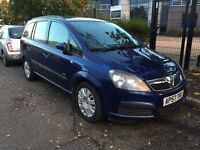 2008 VAUXHALL ZAFIRA 1.6 PETROL MANUAL MPV BLUE 7 SEATER FAMILY CAR GOOD DRIVE MOT NOT SCENIC VECTRA