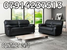 3 & 2 or Corner Leather Sofa Range Cash On Delivery 2345676