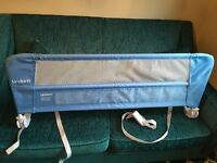 Blue lindam bed guard used once, great condition