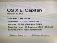 Mac mini 2012 Model - Excellent Condition