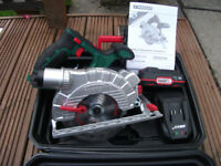 NEW! Professional 20v Battery Cordless Parkside X Team Li Ion Circular Saw! 18v Makita Bosch Dewalt