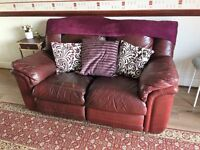 Leather Two Seater Recliner (FREE)