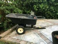 Trailer for mower or tractor