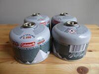 4x Coleman C250 butane/propane cartridges