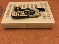 Sky+ box with controller and lead