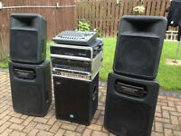 "PA system . 2600 watts no longer required. 15"" subs and 12"" drivers -Peavey Impulse."