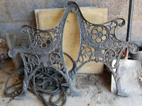 Metal garden bench ends