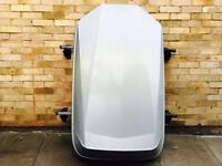 HALFORDS CAR ROOF BOX WITH ROOF BAR
