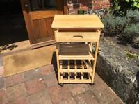 wooden wine racks/kitchen trolley