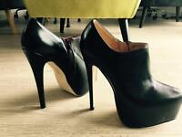 High heels size 39, faux leather