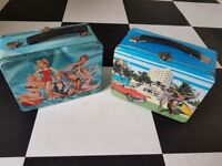 2 kitsch lunch tins