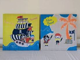 Next pirate canvas, set of 2