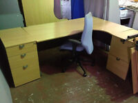 Executive Desk, Chair, Side Ped Package
