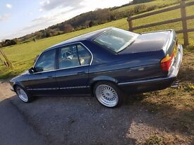 Royal blue 1987 bmw 730i auto e32. Classic. Retro. Beige leather