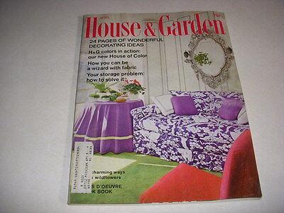 Vintage HOUSE & GARDEN Magazine, April 1968, 60'S DECORATING IDEAS HORS - 60's Decorations Ideas
