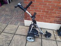 Golf equipment- digital electric Pro -rider golf trolley complete with battery and charger
