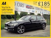 BMW 1 SERIES 2.0 116D SE 5d AUTO 114 BHP SPORTS AUTOMATIC FREE NATIONWIDE DELIVERY! (black) 2015