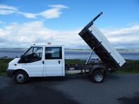 Ford Transit double cab tipper, 2007, 140bhp, No VAT added