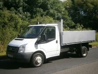 2009(09) FORD TRANSIT T350 MWB 115 6spd TIPPER, ALLOY BODY HIGH SIDES, READY FOR WORK, CLEAN TRUCK