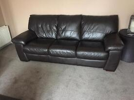 3 & 2 seater brown leather suites ONLY £150