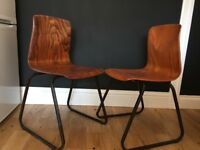 Two mid-century dining chairs