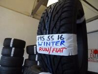 SET OF 4 BRAND NEW 195 55 16 run/flat WINTER tyres £45 EACH SUP & FITD OR £160 SET OF 4 TXT SIZE