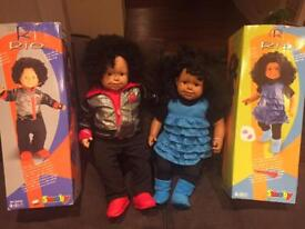 Large Smoby dolls in boxes- one as new!
