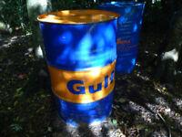 45 GALLON OIL DRUM for BBQ or garden BRAZIER used 205 litre steel drum