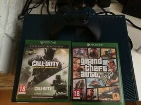 Xbox one 1tb blue. GTA 5 cod remastered