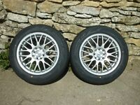 BRAND NEW MULTI FIT ALLOY WHEELS AND TYRES - SUIT TRIKE