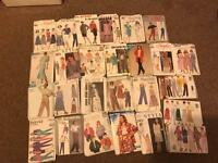 Job lot 56 ladies sewing patterns new and used