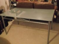 Glass, 5ft Dining Table & 4 Chairs