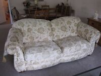 Large 3 seat sofa and chair by Peter Guild