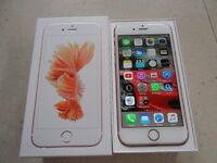 Apple Iphone 6s On O2 16GB Rose Gold Warranty Until March 2017 Perfect Condition Complete Box Etc
