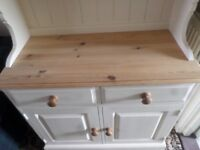 Lovely Solid Pine Double Dresser Hand Painted With Farrow and Ball Acylic Eggshell