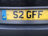 Private number plate ( S2 GFF )