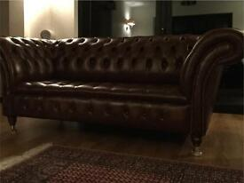 Beautiful leather chesterfield sofa