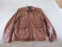 Leather jacket gents size 44 regular in beautiful condition